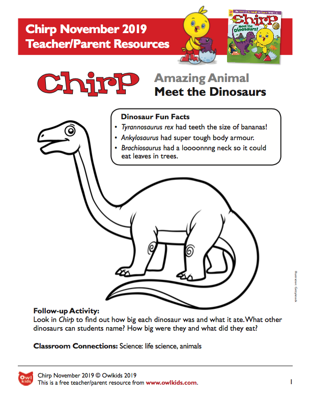 Chirp Magazine November 2019 Learning Resource Cover