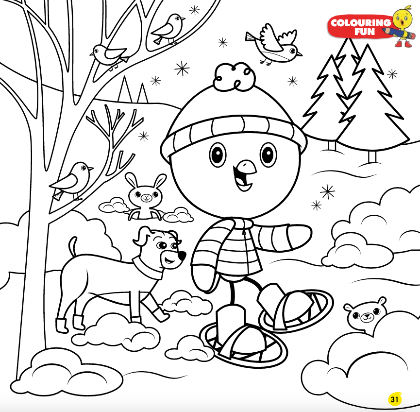 Chirp blog: Colouring page