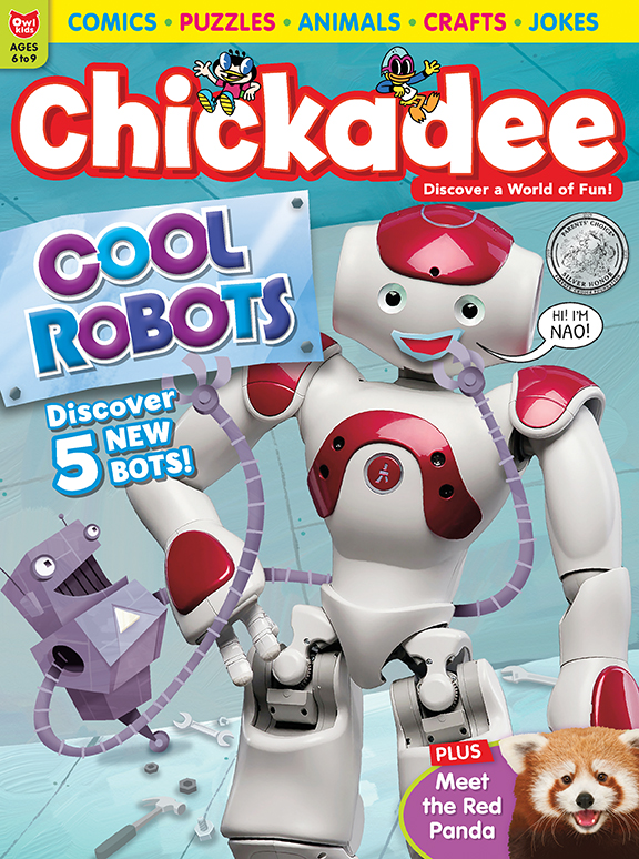 Chickadee magazine cover January February 2020