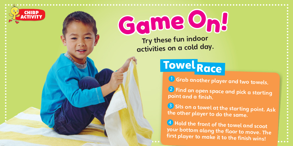 Chirp Blog: Towel Race Activity