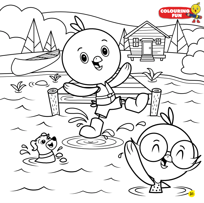 Kids-n-fun.com | 11 coloring pages of Treehouse | 782x786